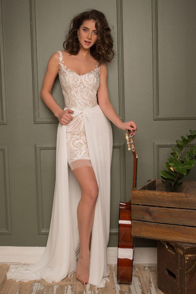 Collection Hervé Mariage - Robe Limoge - Tout pour la mariée à Evian - Robes de mariage, coiffure, maquillage, fleurs, onglerie