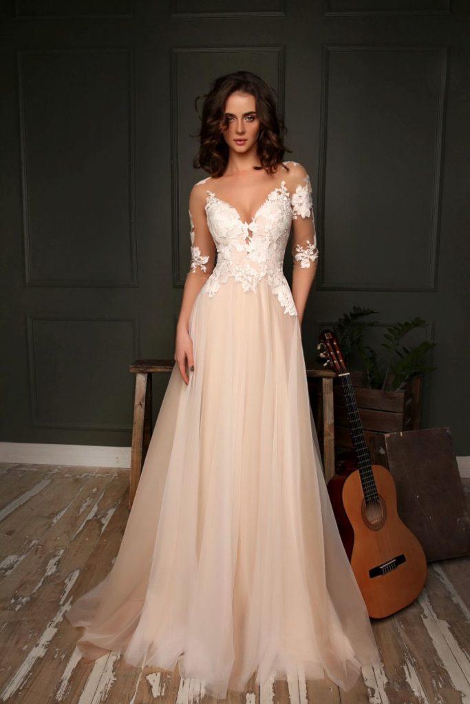 Collection Hervé Mariage - Robe Lyon - Tout pour la mariée à Evian - Robes de mariage, coiffure, maquillage, fleurs, onglerie