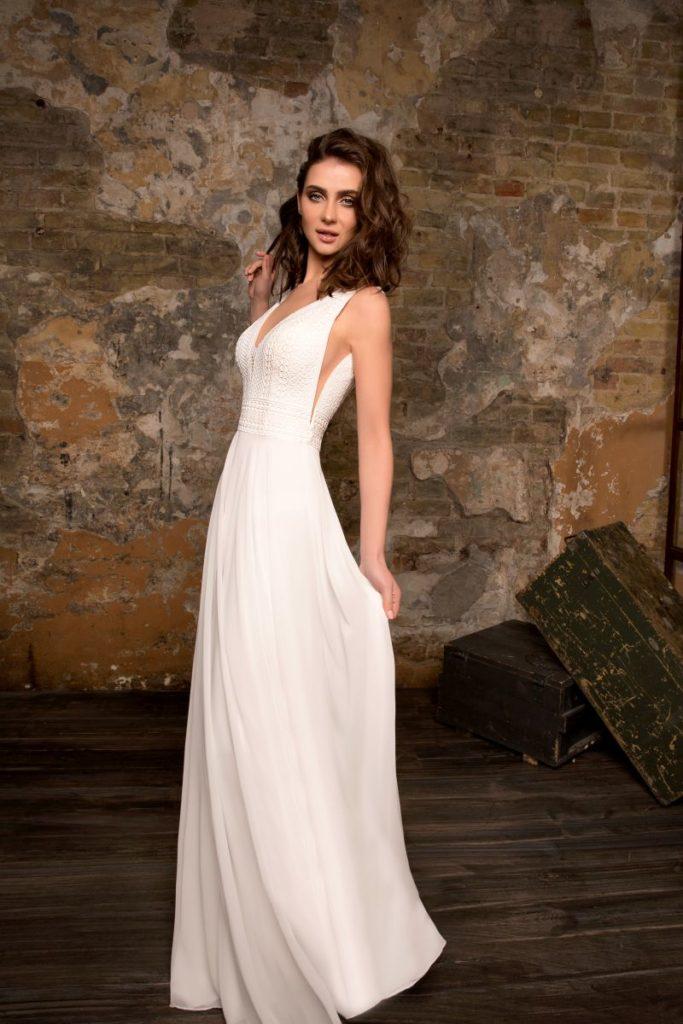 Collection Hervé Mariage - Robe Reims - Tout pour la mariée à Evian - Robes de mariage, coiffure, maquillage, fleurs, onglerie