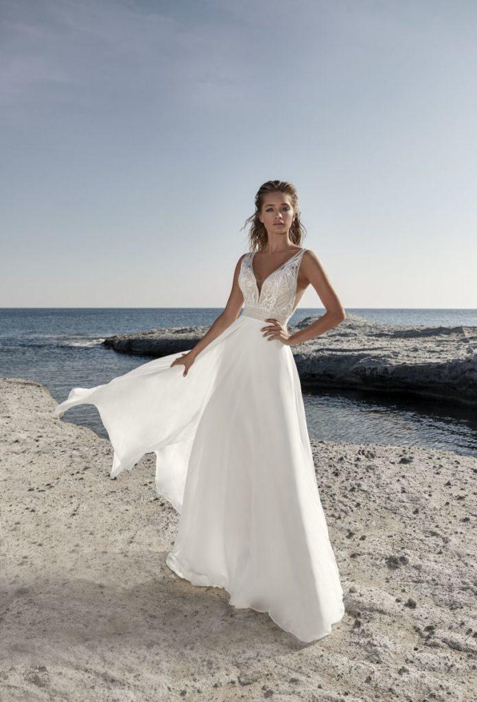 Collection Hervé Mariage 2020 - Robe Tavernay - Tout pour la mariée à Evian - Robes de mariage, coiffure, maquillage, fleurs, onglerie