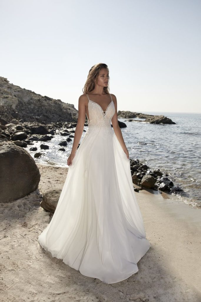 Collection Hervé Mariage 2020 - Robe Tricot - Tout pour la mariée à Evian - Robes de mariage, coiffure, maquillage, fleurs, onglerie