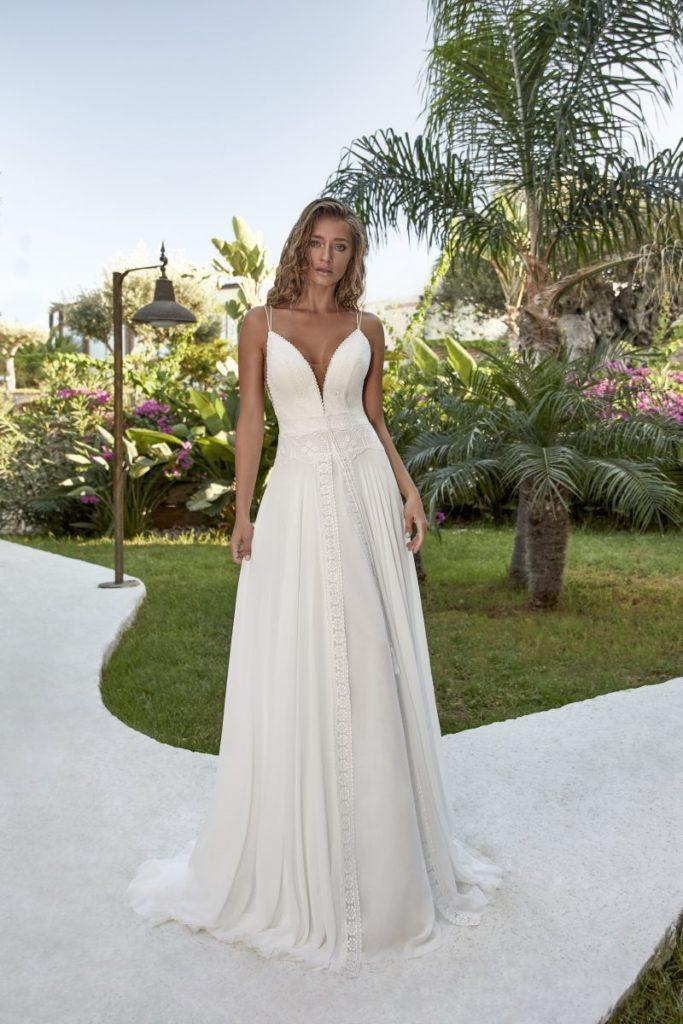 Collection Hervé Mariage 2020 - Robe Troo - Tout pour la mariée à Evian - Robes de mariage, coiffure, maquillage, fleurs, onglerie