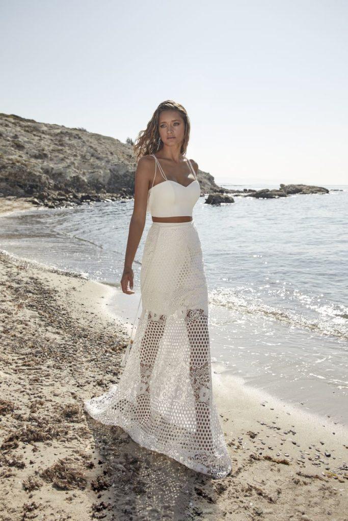 Collection Hervé Mariage 2020 - Robe Tumiac - Tout pour la mariée à Evian - Robes de mariage, coiffure, maquillage, fleurs, onglerie