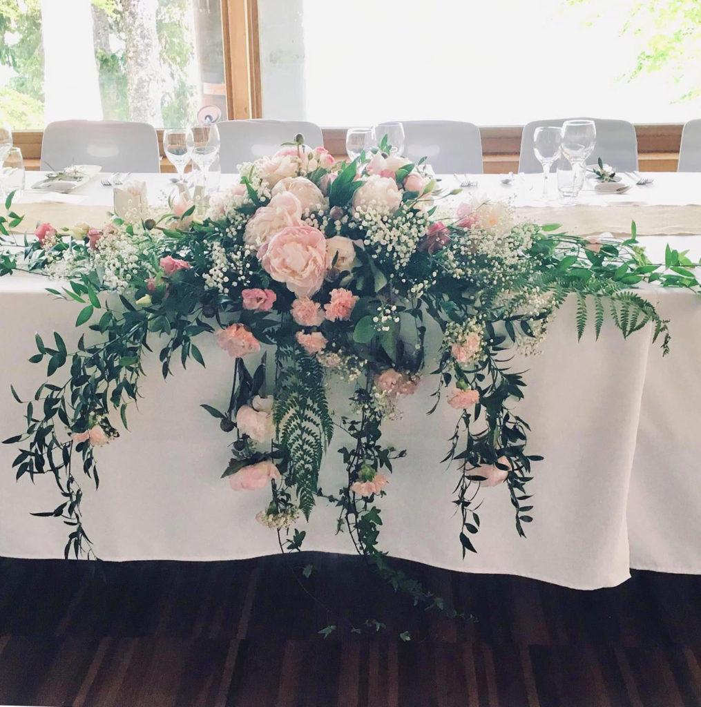 Fleurs à table - il était une fois à Evian, tout pour la mariée